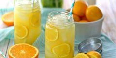 عصير البرتقال والليمون المركز | فوائد عديدة