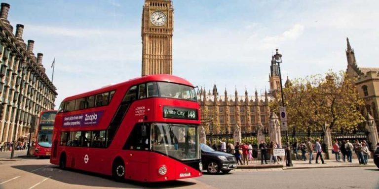 المسافات بين مدن بريطانيا
