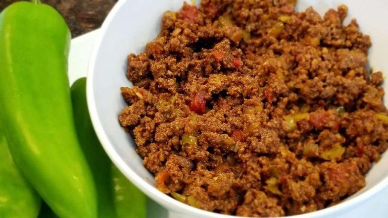 طريقة طبخ اللحم المفروم  –