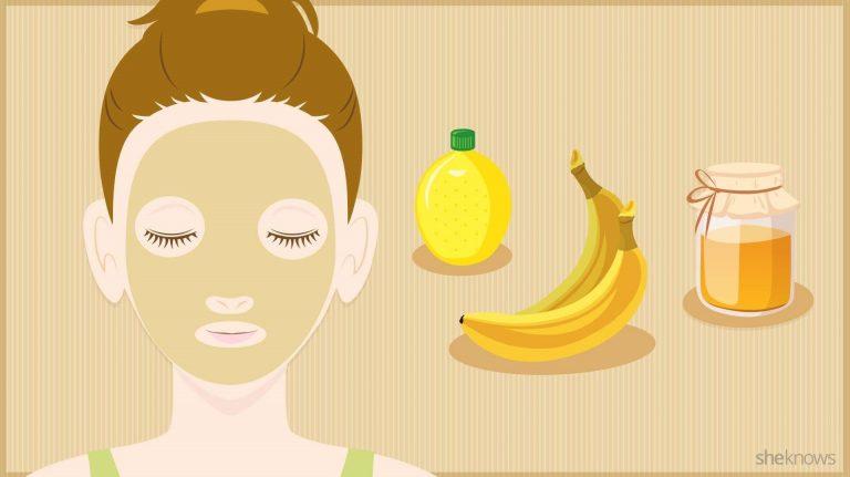 فوائد قشر الموز للوجه الدهني